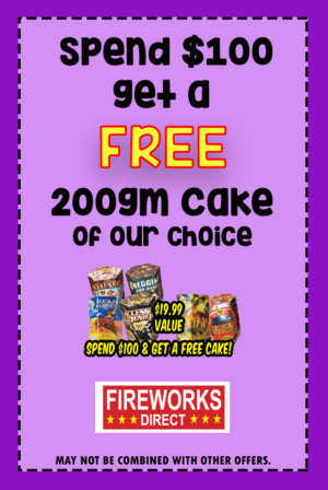Free Fireworks with $100