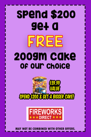 Free Fireworks with $200